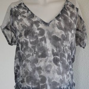 Staring at Stars Anthropologie Top Sz Small Sheer
